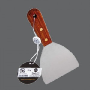 Stainless steel spatula with wooden handle